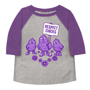 Respect Chicks Toddler Baseball Tee