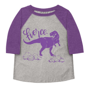 Fierce T-Rex Toddler Baseball Tee