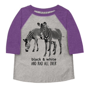 Black & White and Rad All Over Toddler Baseball Tee