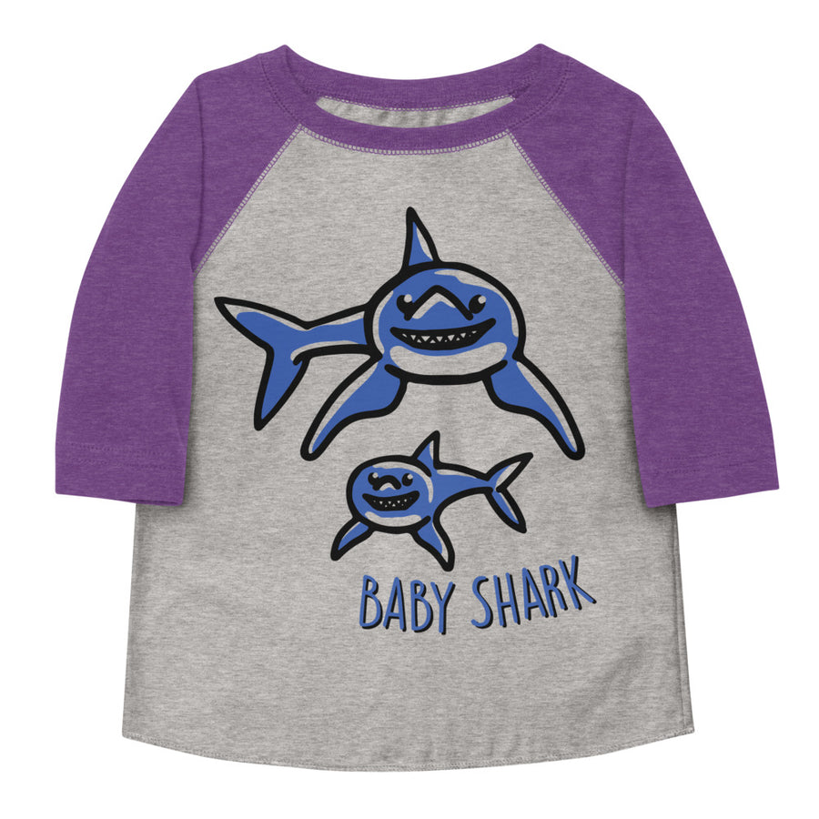 Baby Shark Toddler Baseball Tee