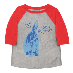 Good Listener Toddler Baseball Tee