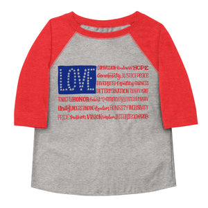 America The Wonderful Toddler Baseball Tee