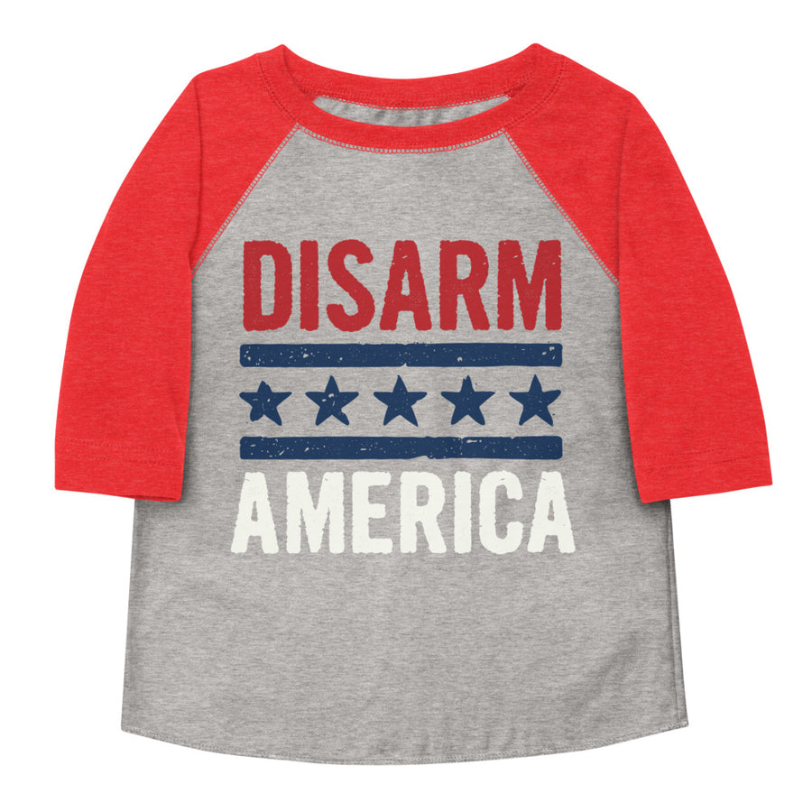 Disarm America Toddler Baseball Tee