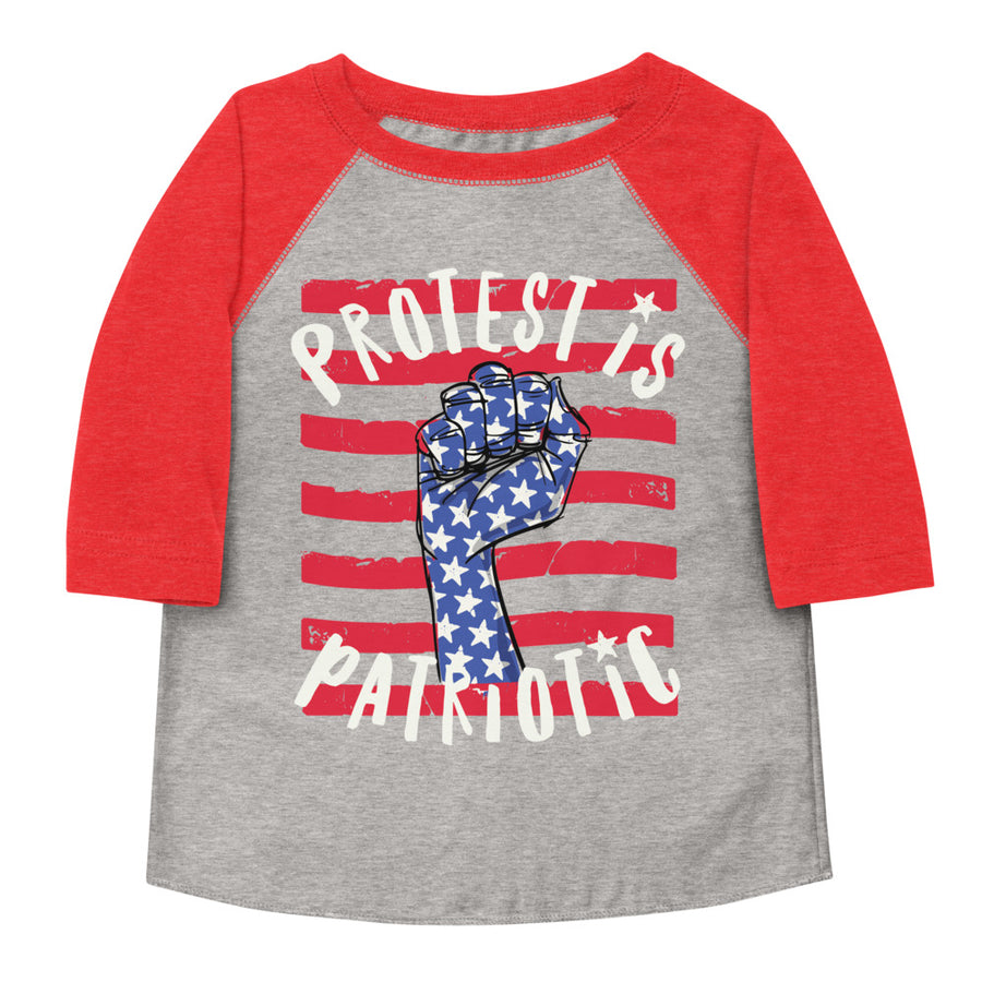 Protest Is Patriotic Toddler Baseball Tee