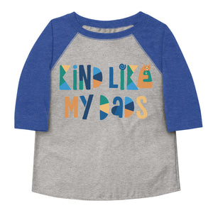 Kind Like My Dads Toddler Baseball Tee