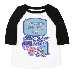 You Can Sit With Us Toddler Baseball Tee