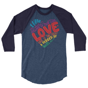 I Have Decided To Stick With Love (Rainbow Edition) Teen/Grownup Baseball Tee