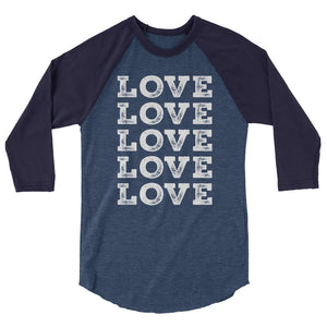 Love Love Love Love Love Teen/Grownup Baseball Tee