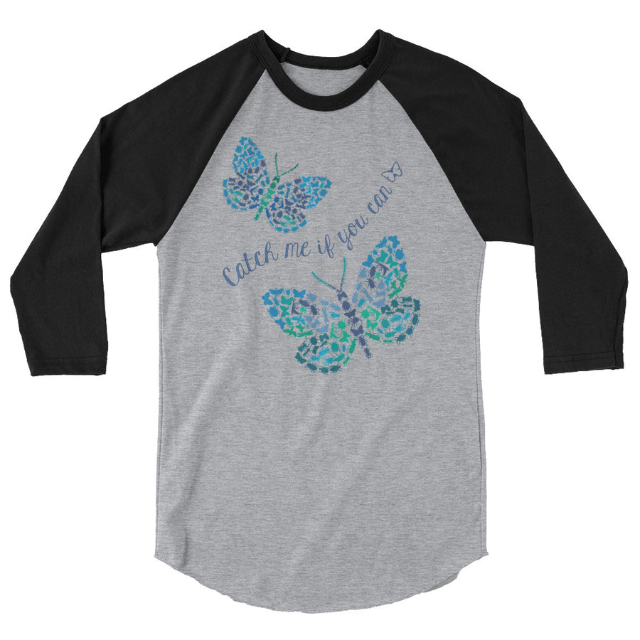 Catch Me If You Can Bugs And Butterflies Teen/Grownup Baseball Tee