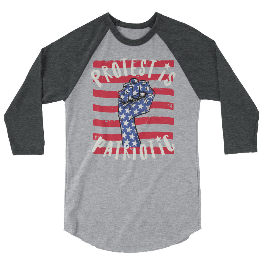 Protest Is Patriotic Teen/Grownup Baseball Tee