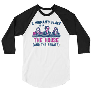 A Woman's Place Is In The House (And The Senate) Teen/Grownup Baseball Tee