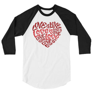 Love Is Love Teen/Grownup Baseball Tee