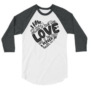 I Have Decided To Stick With Love Teen/Grownup Baseball Tee