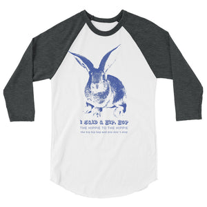 Hip Hop Bunny Teen/Grownup Baseball Tee