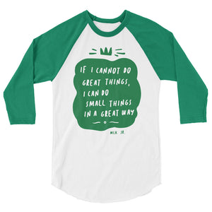 Great Things Teen/Grownup Baseball Tee