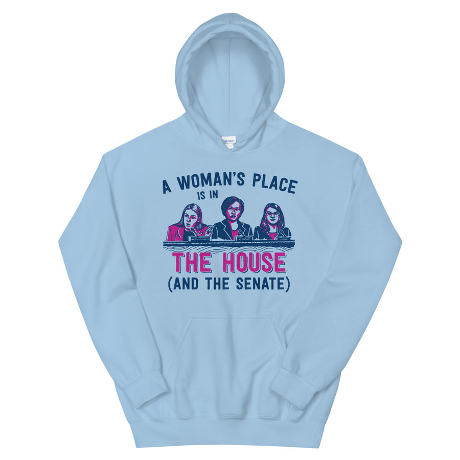 A Woman's Place Is In The House (And The Senate) Teen/Grownup Hoodie