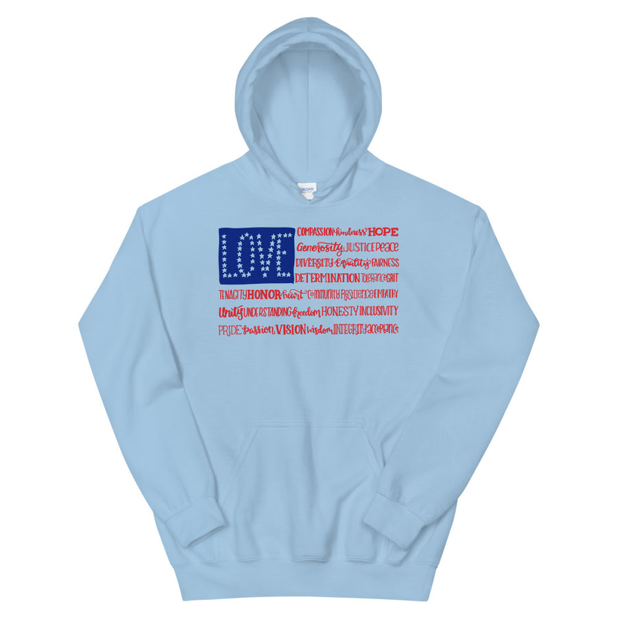America The Wonderful Teen/Grownup Hoodie