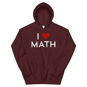 I Love Math Teen/Grownup Hoodie