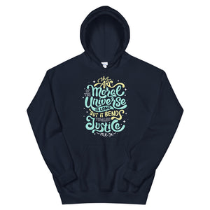 Arc Of The Moral Universe Teen/Grownup Hoodie