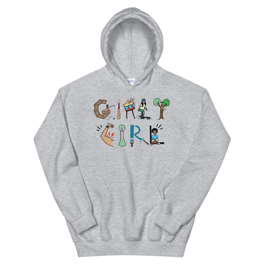 Girly Girl Teen/Grownup Hoodie