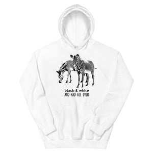 Black & White and Rad All Over Teen/Grownup Hoodie