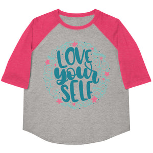 Love Yourself Youth Baseball Tee