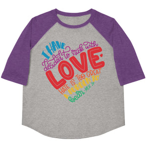 I Have Decided To Stick With Love (Rainbow Edition) Youth Baseball Tee