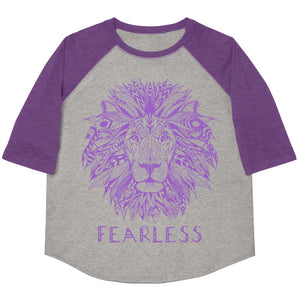 Fearless Lion Youth Baseball Tee