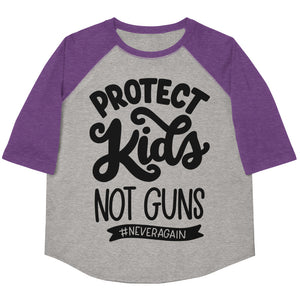 Protect Kids Not Guns Youth Baseball Tee