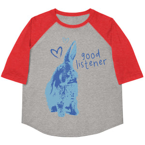 Good Listener Youth Baseball Tee