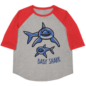 Baby Shark Youth Baseball Tee