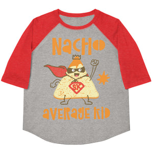Nacho Average Kid Youth Baseball Tee