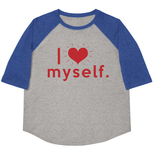 I Love Myself Youth Baseball Tee