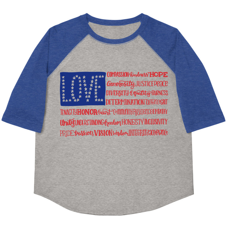 America The Wonderful Youth Baseball Tee