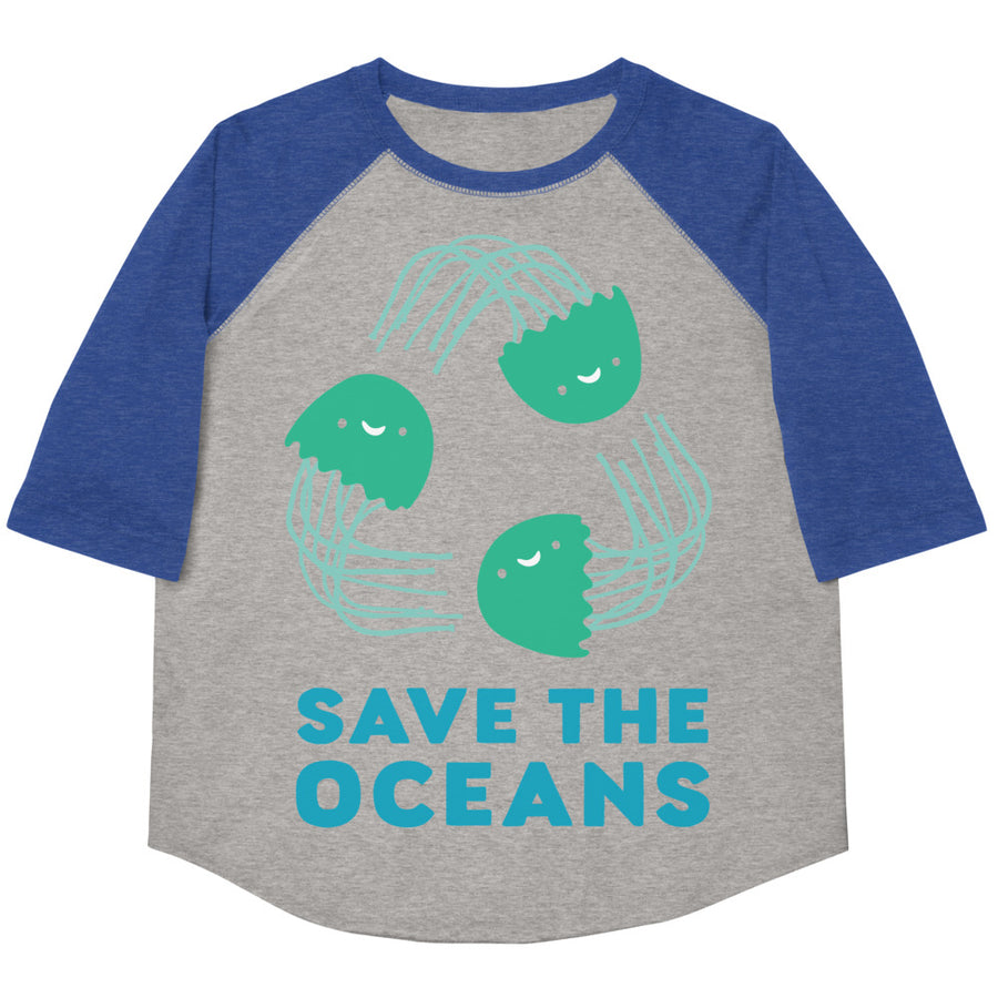 Save The Oceans Youth Baseball Tee