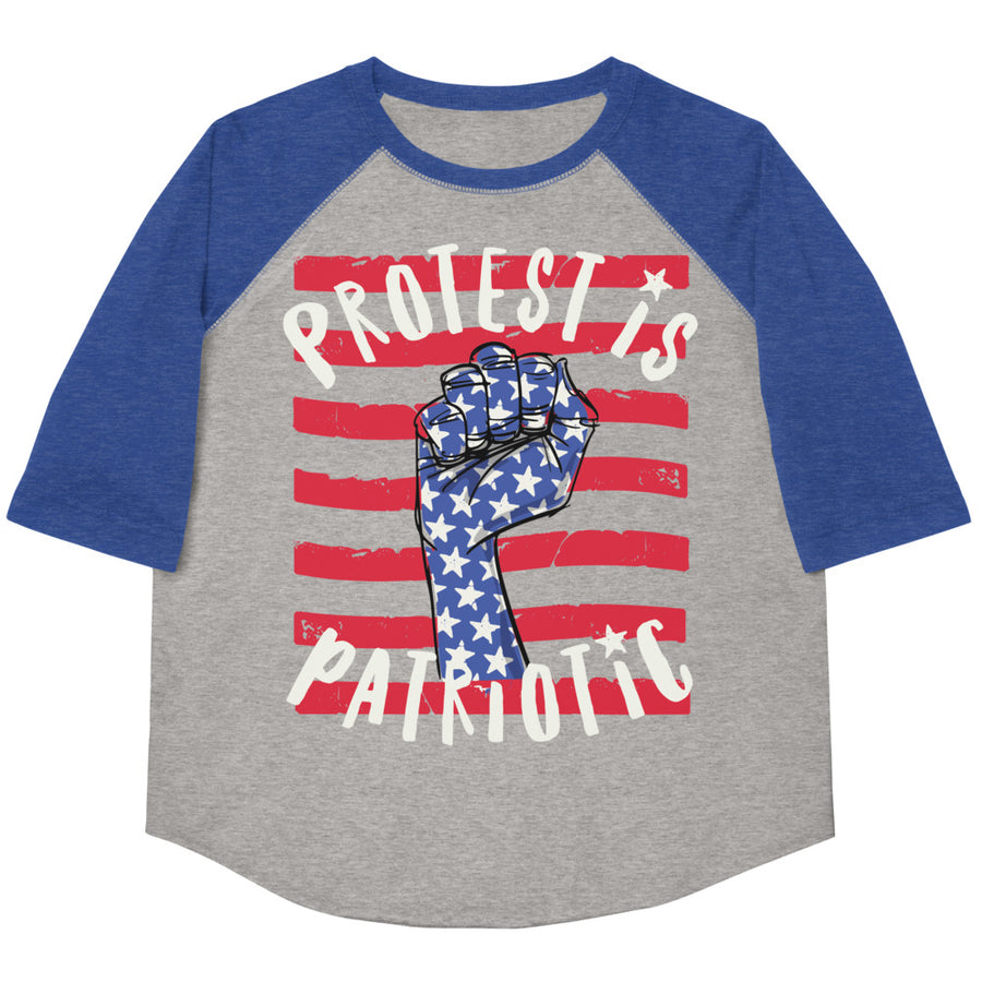 Protest Is Patriotic Youth Baseball Tee