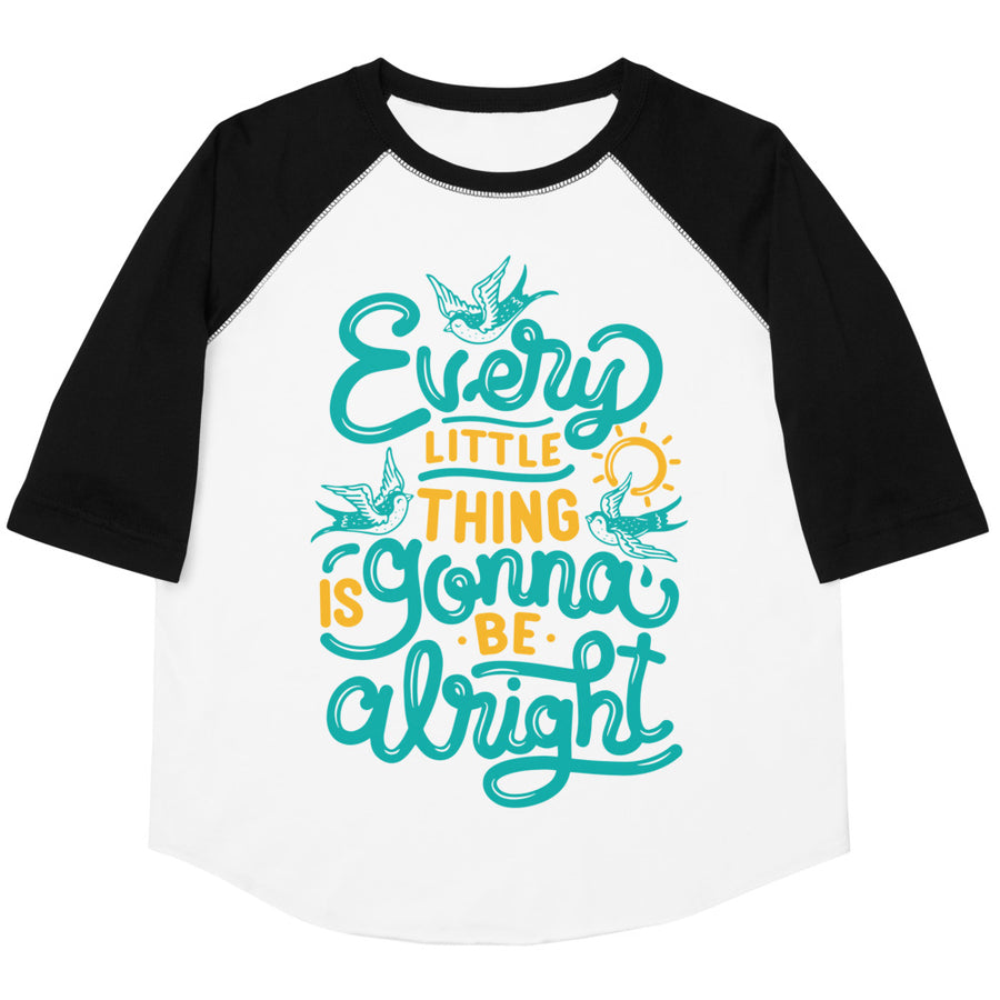 Every Little Thing Is Gonna Be Alright Youth Baseball Tee