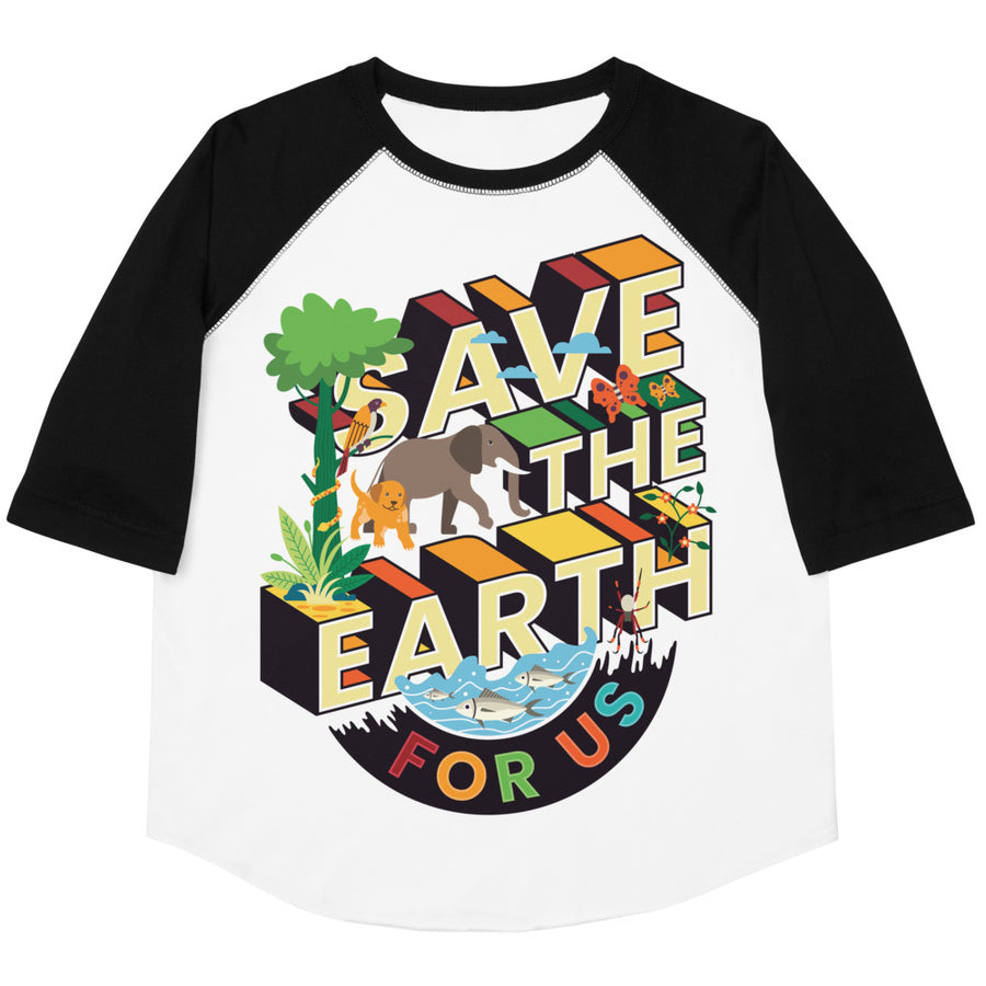 Save The Earth For Us Youth Baseball Tee