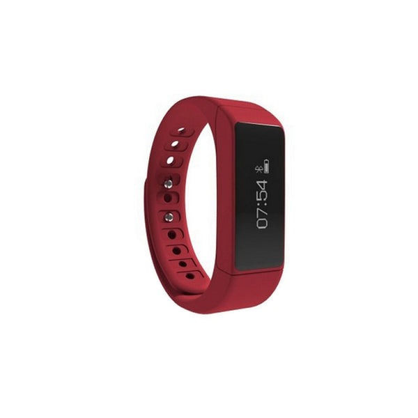 iParis Mens i8 Android Red Smart Bracelet Fitness Tracker - iparis