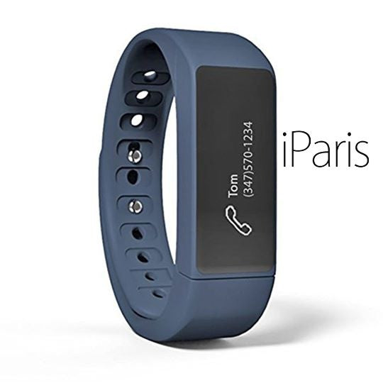 iParis Mens i7 Android Deep Blue Smart Bracelet Fitness Tracker - iparis