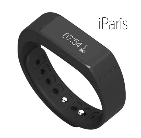 iParis Mens i7 Android Black Smart Bracelet Fitness Tracker - iparis