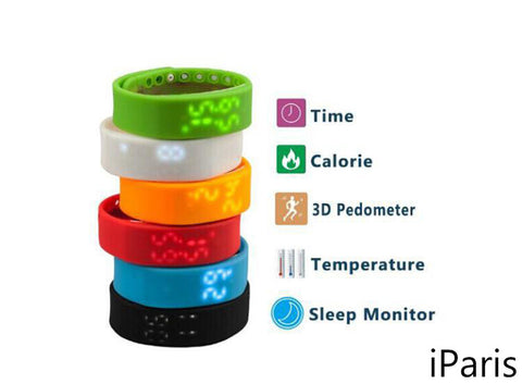 iParis Kids Red Smart Watch Bracelet Fitness Tracker - iparis