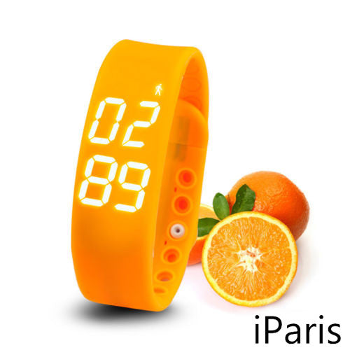 iParis Kids Orange Smart Watch Bracelet Fitness Tracker - iparis