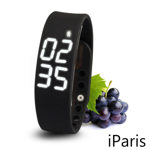 iParis Kids Black Smart Watch Bracelet Fitness Tracker - iparis