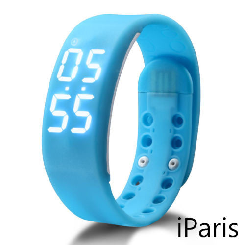 iParis Kids Sky Blue Smart Watch Bracelet Fitness Tracker - iparis