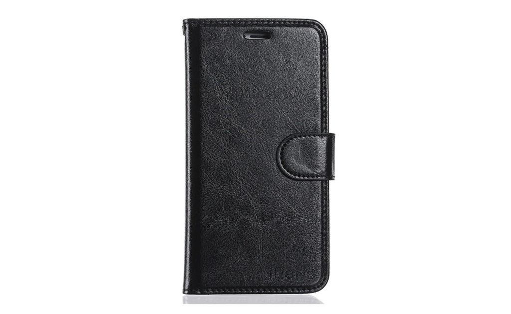 iParis European Black Leather Fashion Wallet Flip Cover Case for iPhone5 - iparis
