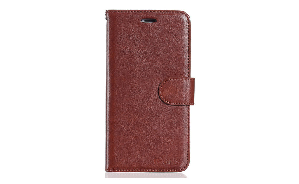 iParis European Brown Leather Fashion Wallet Flip Cover Case for iPhone 6s - iparis
