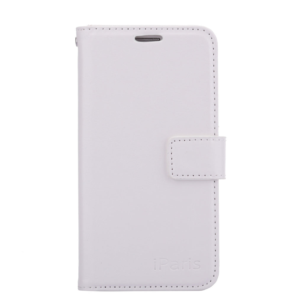 iParis Genuine White Leather Wallet Stand Cover Flip Case For Samsung Galaxy s6 - iparis
