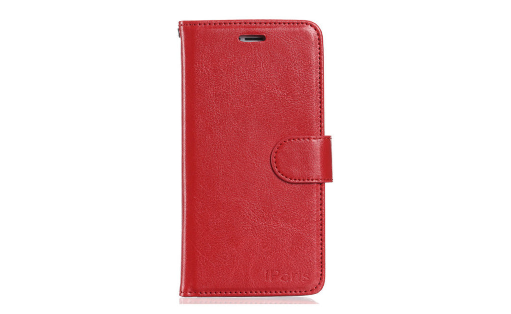 iParis European Red Leather Fashion Wallet Flip Cover Case for iPhone5 - iparis