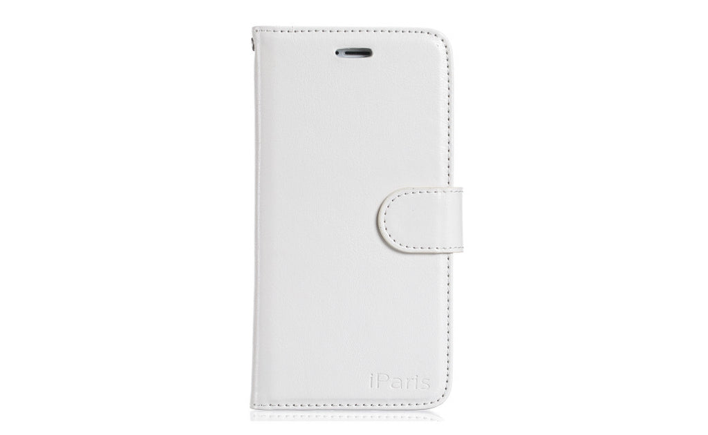 iParis European White Leather Fashion Wallet Flip Cover Case for iPhone6 - iparis